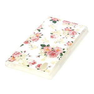 Softy gélový obal pre mobil Lenovo P70 - kvetiny - 3