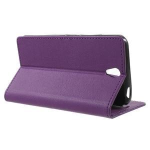 Peňaženkové puzdro pre mobil Lenovo Vibe S1 - fialové - 3