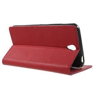 Peňaženkové puzdro pre mobil Lenovo Vibe S1 - červené - 3
