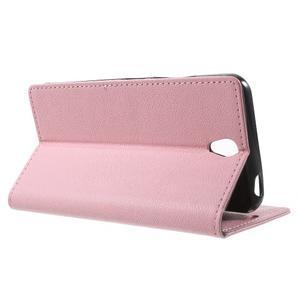 Peňaženkové puzdro pre mobil Lenovo Vibe S1 - ružové - 3