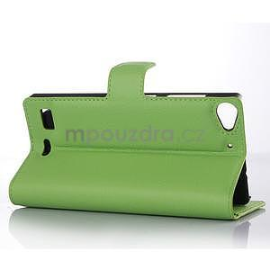 Zelené peňaženkové puzdro Lenovo Vibe X2 - 3