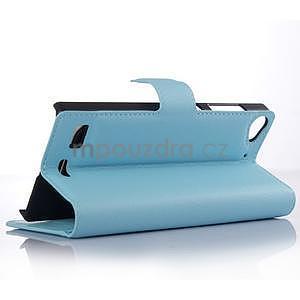 Světle modré peňaženkové puzdro Lenovo Vibe X2 - 3