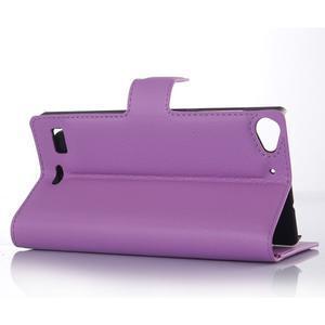 Fialové peňaženkové puzdro Lenovo Vibe X2 - 3