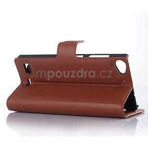 hnedé peňaženkové puzdro Lenovo Vibe X2 - 3