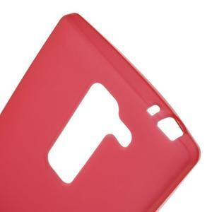 Matný gélový kryt pre LG Spirit - červený - 3