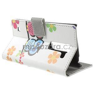 Peňaženkové puzdro na LG Spirit - sovičky - 3
