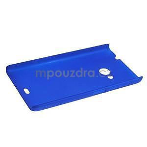 Modré pogumované plastové puzdro Microsoft Lumia 535 - 3