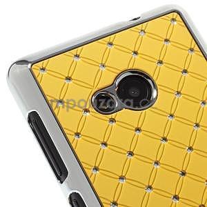 Drahokamový kryt na Microsoft Lumia 535 - žltý - 3