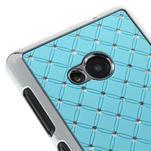 Drahokamový kryt na Microsoft Lumia 535 - světle modrý - 3/5