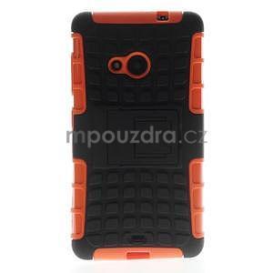 Vysoce odolný obal pre Microsoft Lumia 535 - oranžový - 3