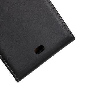Flipové čierné puzdro na Microsoft Lumia 535 - 3
