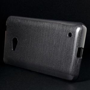 Brúsený gélový obal pre Microsoft Lumia 640 LTE - sivý - 3