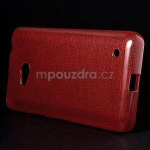 Broušený gélový obal na Microsoft Lumia 640 LTE - červený - 3