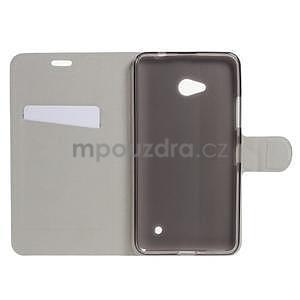 Bílé peňaženkové puzdro na Microsoft Lumia 640 LTE - 3