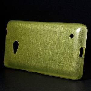 Broušený gélový obal na Microsoft Lumia 640 LTE - zelený - 3