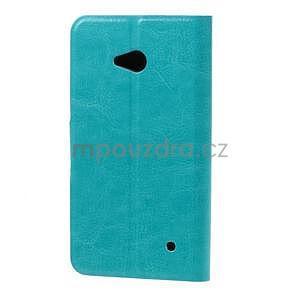 Tyrkysové peňaženkové puzdro na Microsoft Lumia 640 LTE - 3