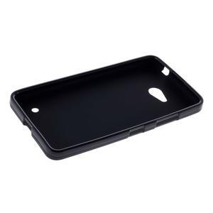 Matný gélový kryt pre Microsoft Lumia 640 LTE - čierny - 3