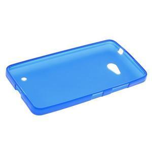 Matný gélový kryt na Microsoft Lumia 640 LTE - modrý - 3