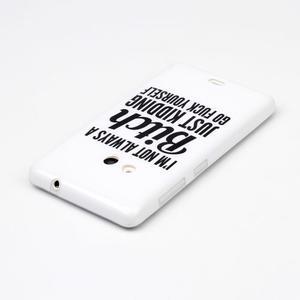 Soft gélový obal na mobil Microsoft Lumia 535 - not bitch - 3