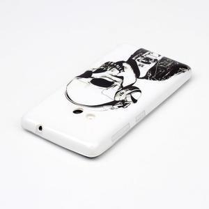 Soft gélový obal pre mobil Microsoft Lumia 535 - skull - 3