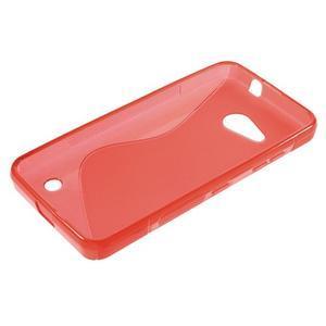 S-line gélový obal pre mobil Microsoft Lumia 550 - červený - 3