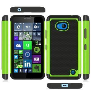 Odolný hybrdiní kryt na mobil Microsoft Lumia 640 - zelený - 3