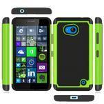 Odolný hybrdiní kryt na mobil Microsoft Lumia 640 - zelený - 3/4