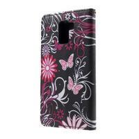 Cross peňaženkové puzdro pre Huawei Honor 7 - čarovné motýľe - 3/6