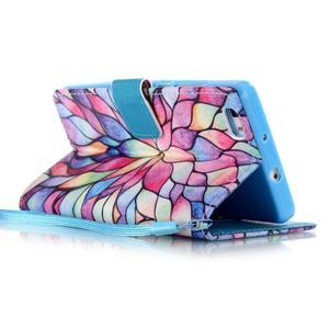 Peňaženkové puzdro Huawei Ascend P8 Lite - kvetinové lístky - 3