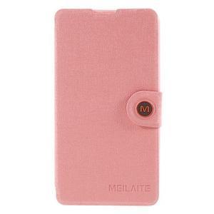 Solid puzdro pre mobil Microsoft Lumia 535 - ružové - 3