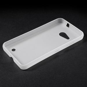 Matný gélový obal pre Microsoft Lumia 550 - biely - 3