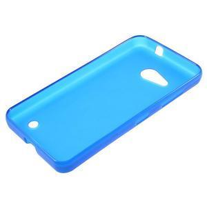 Matný gélový obal pre Microsoft Lumia 550 - modrý - 3