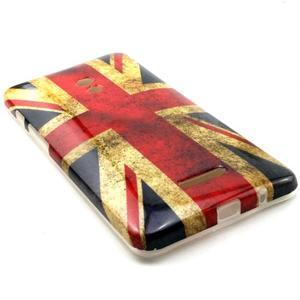 Soft gélový obal pre Asus Zenfone 5 - UK vlajka - 3