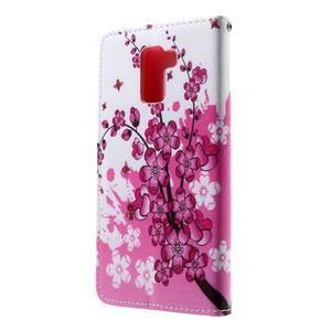 Cross peňaženkové puzdro na Huawei Honor 7 - kvetoucí větvička - 3