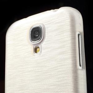 Gélový kryt s brúseným vzorem pre Samsung Galaxy S4 - biely - 3