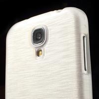 Gélový kryt s brúseným vzorem pre Samsung Galaxy S4 - biely - 3/5
