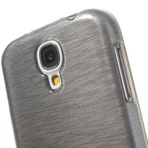Gélový kryt s brúseným vzorem pre Samsung Galaxy S4 - šedý - 3