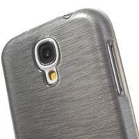 Gélový kryt s brúseným vzorem pre Samsung Galaxy S4 - šedý - 3/5