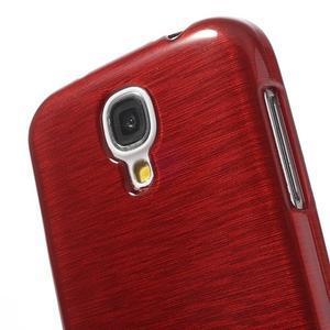 Gélový kryt s brúseným vzorem pre Samsung Galaxy S4 - červený - 3