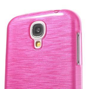 Gélový kryt s brúseným vzorem pre Samsung Galaxy S4 - rose - 3
