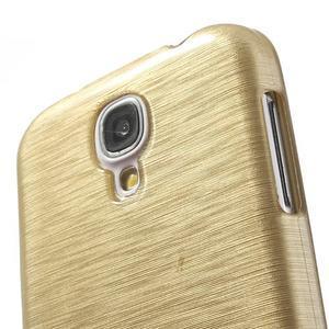 Gélový kryt s broušeným vzorem na Samsung Galaxy S4 - zlatý - 3