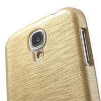 Gélový kryt s broušeným vzorem na Samsung Galaxy S4 - zlatý - 3/5