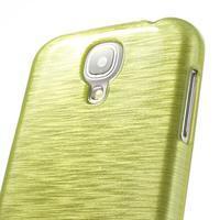Gélový kryt s broušeným vzorem na Samsung Galaxy S4 - žlutozelený - 3/5