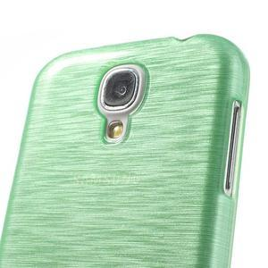 Gélový kryt s broušeným vzorem na Samsung Galaxy S4 - azurový - 3