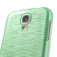 Gélový kryt s broušeným vzorem na Samsung Galaxy S4 - azurový - 3/5
