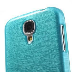 Gélový kryt s brúseným vzorem pre Samsung Galaxy S4 - modrý - 3
