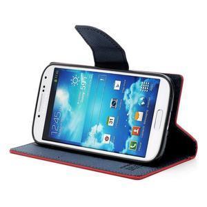 Fancy peňaženkové puzdro na Samsung Galaxy S4 - červené - 3
