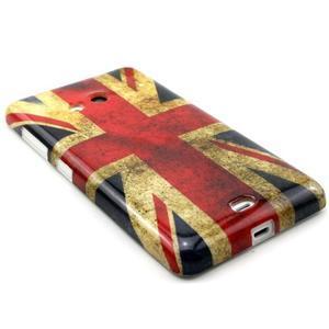 Gélový kryt na Microsoft Lumia 535 - UK vlajka - 3