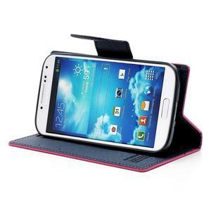 Fancy peňaženkové puzdro na Samsung Galaxy S4 -  rose - 3