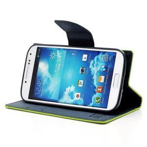 Fancy peňaženkové puzdro pre Samsung Galaxy S4 - zelené - 3